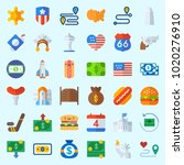 icons about united states with... | Shutterstock .eps vector #1020276910