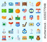 icons about united states with... | Shutterstock .eps vector #1020277048