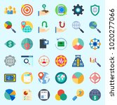 icons about marketing with... | Shutterstock .eps vector #1020277066