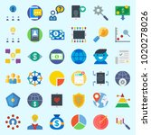 icons about marketing with...   Shutterstock .eps vector #1020278026