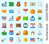 icons about united states with... | Shutterstock .eps vector #1020278380