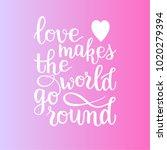 love phrase hand written bounce ... | Shutterstock .eps vector #1020279394
