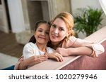 beautiful happy mother and...   Shutterstock . vector #1020279946