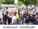 street protest. public...   Shutterstock . vector #1020281689