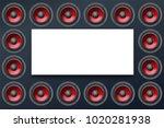 audio speakers close up ... | Shutterstock . vector #1020281938