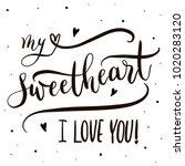 My Sweetheart I Love You  ...