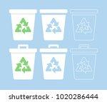 recycle bin icon set   Shutterstock .eps vector #1020286444