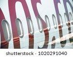 airplane belonging to pegasus... | Shutterstock . vector #1020291040