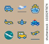 icons transport with medical... | Shutterstock .eps vector #1020297874