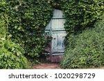 A Vintage Wooden Blue Door Wit...