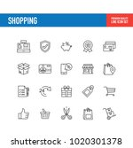 shopping line icon | Shutterstock .eps vector #1020301378