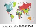 political world map | Shutterstock .eps vector #1020315049