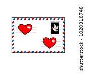 vector illustration. envelope... | Shutterstock .eps vector #1020318748