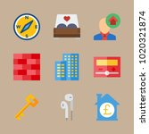 icons real assets with flats ... | Shutterstock .eps vector #1020321874