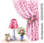 watercolor painting.  hand... | Shutterstock . vector #1020324070
