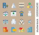icons real estate with building ... | Shutterstock .eps vector #1020326530