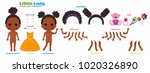 stylized characters set for... | Shutterstock . vector #1020326890