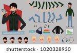 business man cartoon character... | Shutterstock .eps vector #1020328930