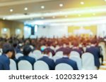 blur of business conference and ... | Shutterstock . vector #1020329134
