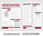 the newspaper  the first and... | Shutterstock .eps vector #1020335089