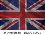waving flag of united kingdom ... | Shutterstock .eps vector #1020341929
