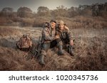 Hunter Men Friends Resting In...