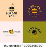 collection of vector flat fast... | Shutterstock .eps vector #1020348730