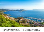 aerial view of popular resort... | Shutterstock . vector #1020349069