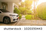 home happy concept . beautiful... | Shutterstock . vector #1020350443