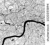 london downtown vector map...   Shutterstock .eps vector #1020355894