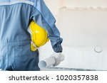 male engineer or technician... | Shutterstock . vector #1020357838