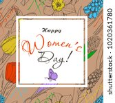 greeting card for international ...   Shutterstock .eps vector #1020361780