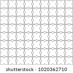 seamless geometric ornamental... | Shutterstock .eps vector #1020362710
