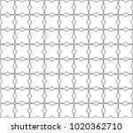 seamless geometric ornamental... | Shutterstock .eps vector #1020362710