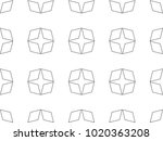 seamless geometric ornamental... | Shutterstock .eps vector #1020363208