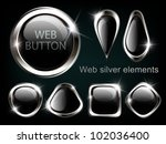 silver shiny modern elements.... | Shutterstock .eps vector #102036400