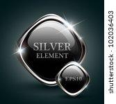silver shiny modern element....   Shutterstock .eps vector #102036403