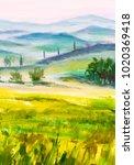 Painting Italian Tuscany  Gree...
