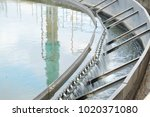 clarifier wastewater treatment... | Shutterstock . vector #1020371080