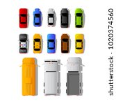 set of different cars and... | Shutterstock .eps vector #1020374560