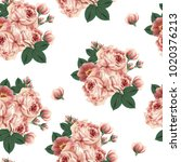 flowers pattern... for textile  ... | Shutterstock . vector #1020376213