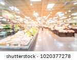 wide view blurred produce... | Shutterstock . vector #1020377278