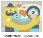 family  father  child  mother.... | Shutterstock .eps vector #102038248
