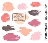 vector paint brush spots  hand... | Shutterstock .eps vector #1020383224