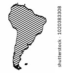south america map outline... | Shutterstock .eps vector #1020383308
