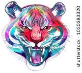 beautiful artistic portrait of... | Shutterstock . vector #1020383320