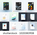 mega set of abstract templates... | Shutterstock .eps vector #1020383908