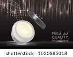 cosmetic container with... | Shutterstock .eps vector #1020385018