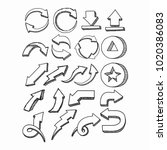 arrow bundle vector collections.... | Shutterstock .eps vector #1020386083