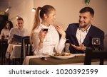 gentleman with elegant woman... | Shutterstock . vector #1020392599
